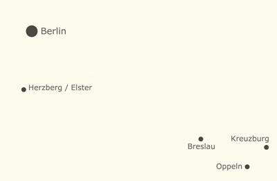 Kreuzburg-Oppeln-Breslau-Herzberg-Berlin